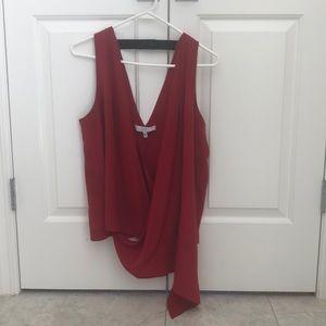 Red Silk Blouse Robert Rodriguez